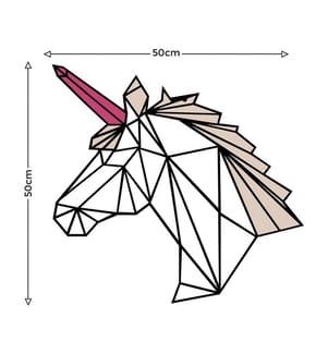 Wanddekoration Unicorn - 50 x 50 cm
