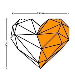 Wanddekoration Heart - 45 x 40 cm