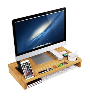 SONGMICS - Bamboo Monitor Stand Riser, LLD201