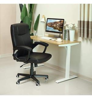 SONGMICS - Bürostuhl aus PU, mit ergonomischem Design, schwarz, OBG32B