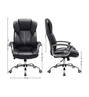 SONGMICS - Bürostuhl Chefsessel Drehstuhl Computerstuhl Sitzhöhenverstellung office Stuhl Polsterung OBG57B