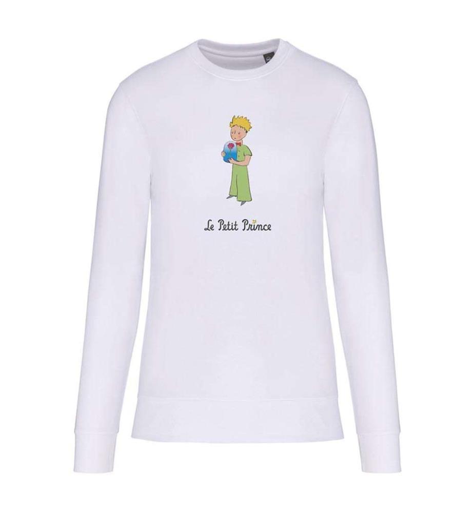 """Sweatshirt Weiss """" Le Petit Prince Et La Rose """""""