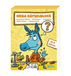 Mega Rätselblock – Kreuzworträtsel, Quizfragen, Knobeleien, Wörterrätsel, Zahlenrätsel
