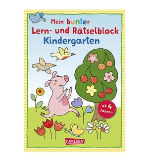 Mein bunter Lern- und Rätselblock: Kindergarten