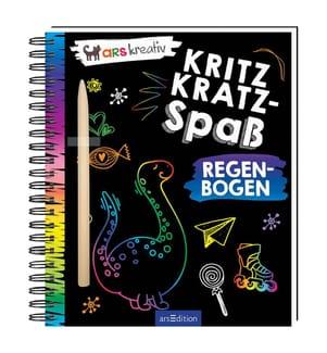 Kritzkratz-Spass Regenbogen, m. Stift