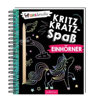 Kritzkratz-Spass Einhörner, m. Stift