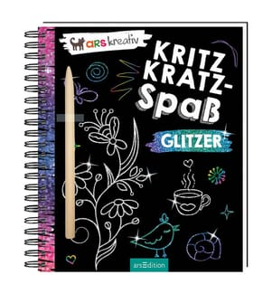 Kritzkratz-Spass Glitzer, m. Sift