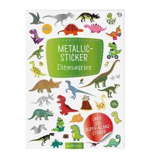 Metallic-Sticker Dinosaurier