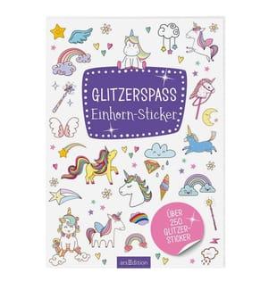 Glitzerspass - Einhorn-Sticker