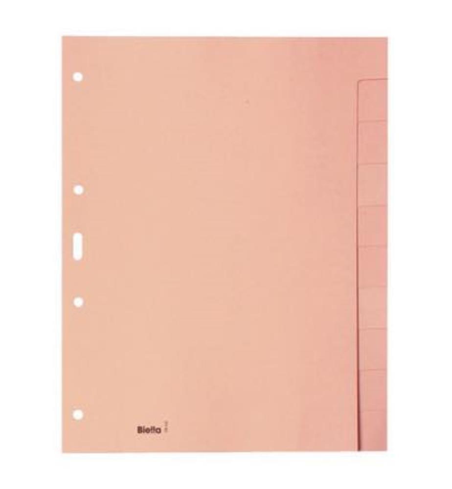 BIELLA - Register Karton hellbraun - A4