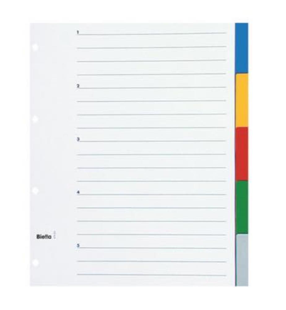 BIELLA - Register PP farbig A4
