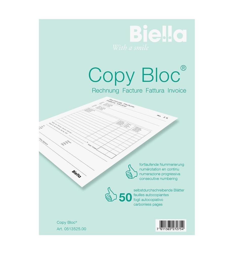 BIELLA - Rechnung COPY-BLOC D/F - A5