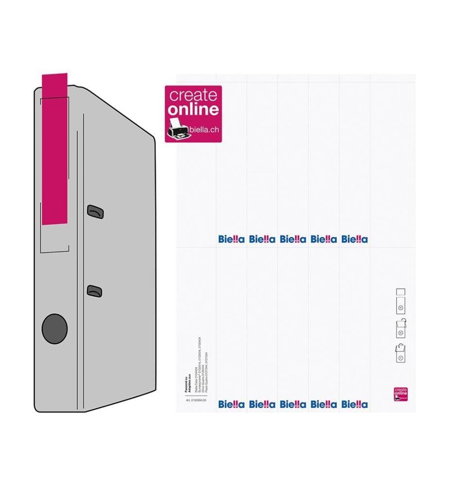 BIELLA - Rückenschild Ordner - 27x145mm