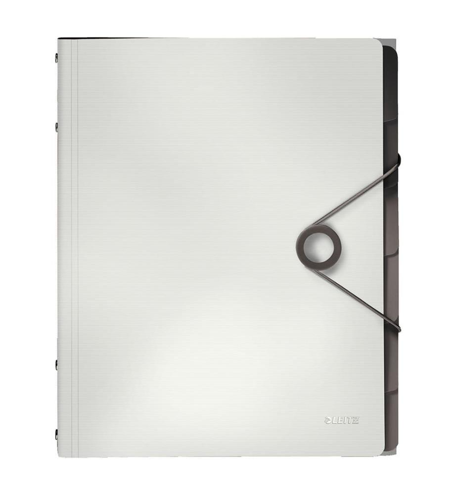 LEITZ - Ordnungsmappe Solid PP A4 45691001 weiss 6 Fächer