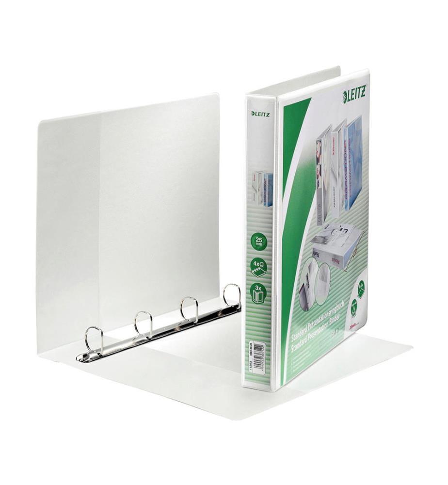 LEITZ - Präsentationsringbuch A4 42840001 weiss 4R 25mm