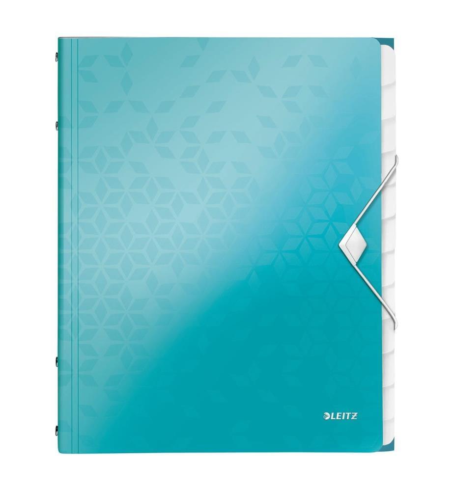 LEITZ - Ordnungsmappe WOW PP A4 46340051 blau 12-teilig