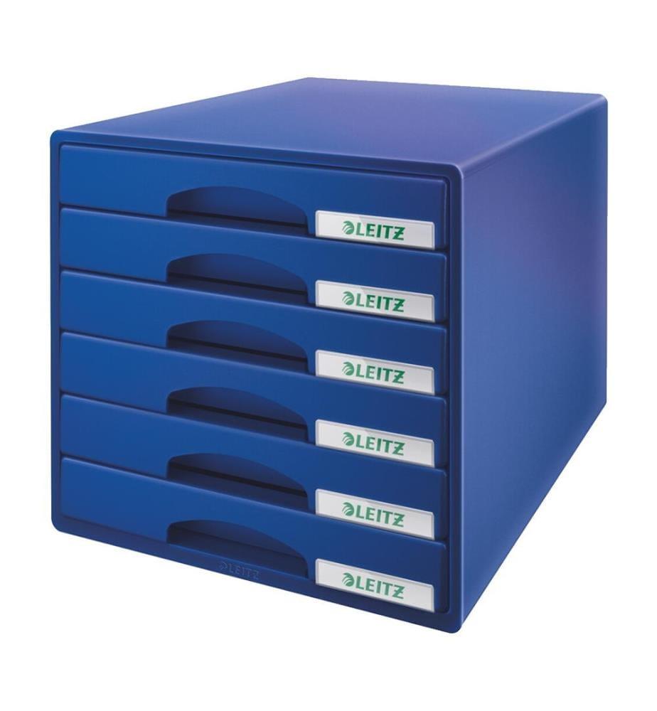 LEITZ - Schubladenbox Plus blau 52120035 6 Fächer
