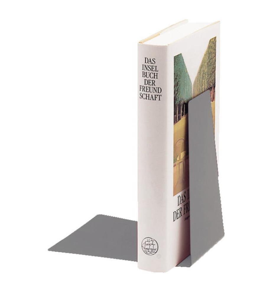 LEITZ - Buchstütze Metall 52980085 grau 12.5x14.5x14cm