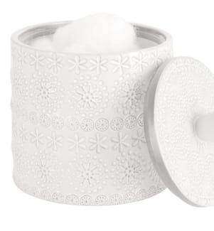 SPIRELLA - Weisses Relief Baumwollbox