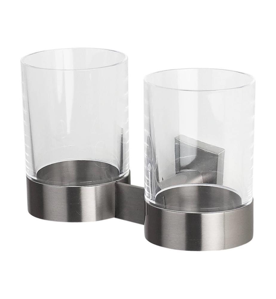 SPIRELLA - Zahnbürsten-Glas Nyo - Transparent und Silber