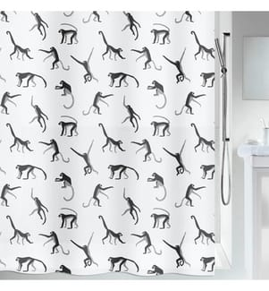 SPIRELLA - Duschvorhang Monkey 180 x 200 cm - Schwarz