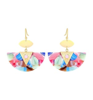 Ohrringe MINARAL - Blau und Rosa