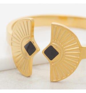 Ring NEFER - Schwarz