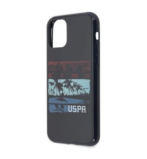 Fall U.S. Polo ASSN. Tricolor Sommer für iPhone 11 Pro - Navy