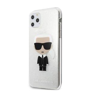 Karl Lagerfeld Ikonik Karl Hülle für iPhone 11 Pro Max - Silber
