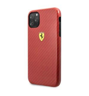Telefonschale Ferrari Carbon iPhone 11 Pro - Rot