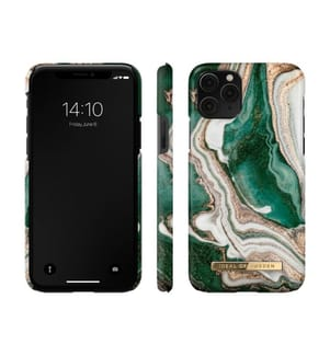 Ideal of Sweden Fashion Goldene Jade Marmor Hülle für iPhone 11 Pro - Gold/Smaragd