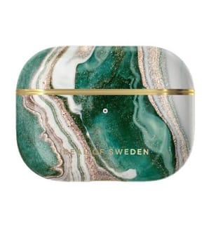 Ideal of Sweden Golden Jade Marble Schutz für Airpods Pro - Gold/Smaragd