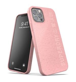 Superdry Snap Case kompostierbar für iPhone 12 und iPhone 12 Pro - Pink