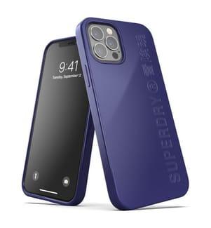 Superdry Snap Case Compostable für iPhone 12 und iPhone 12 Pro - Blau