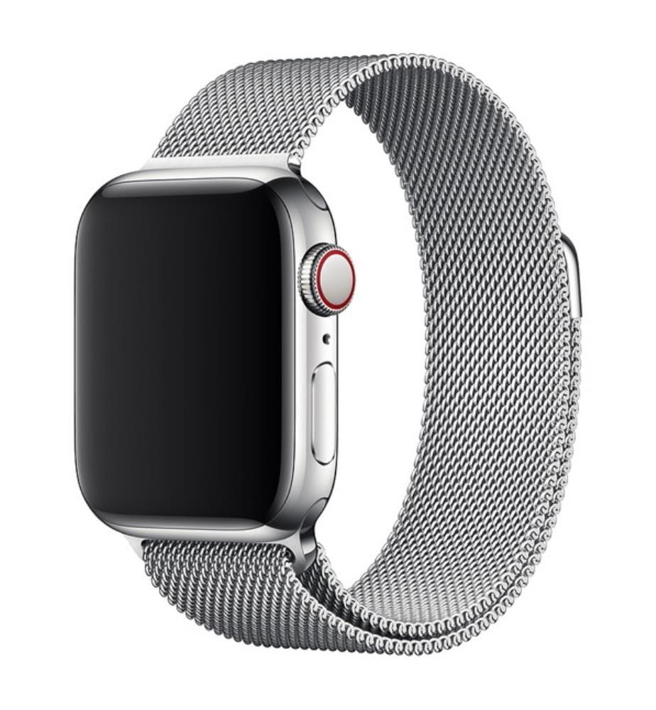 Edelstahl Armband Milanaise-Stil für Apple Watch 38mm - Silber
