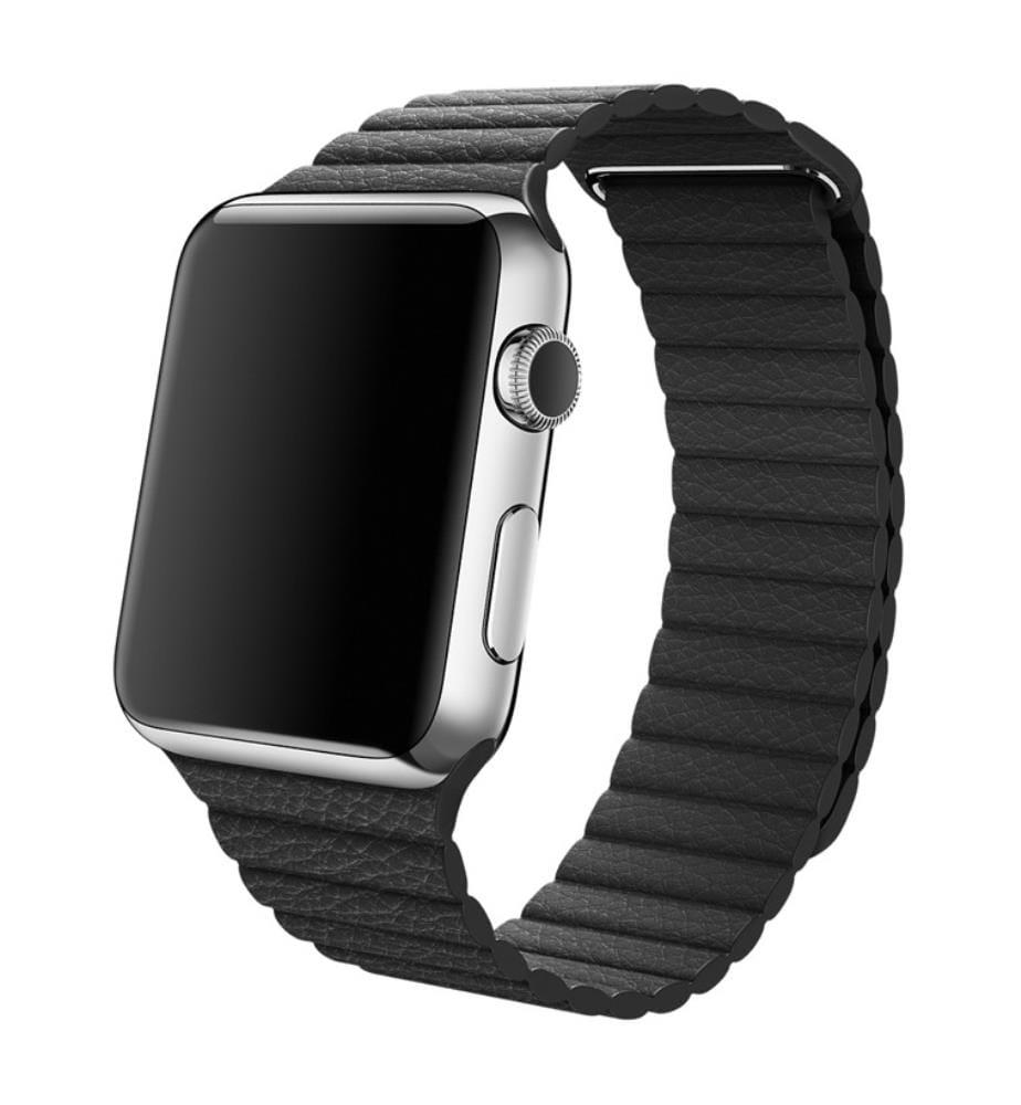 Schwarzes Lederarmband für Apple Watch 40mm