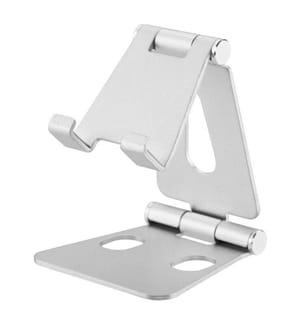 Zusammenklappbarer Tischständer für Smartphones und Tablets - Silber