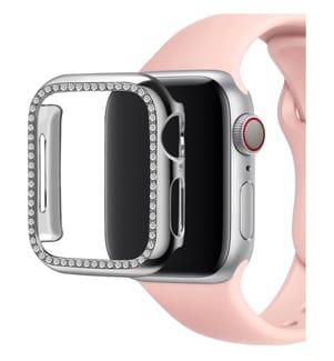 Schutzkappe mit Pailletten für Apple Watch 38mm - Silber