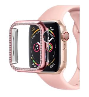 Schutzkappe mit Pailletten für Apple Watch 40mm - Rosa