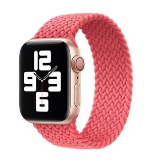 Geflochtenes Silikonarmband für Apple Watch 42 und 44mm Grösse S - Pink