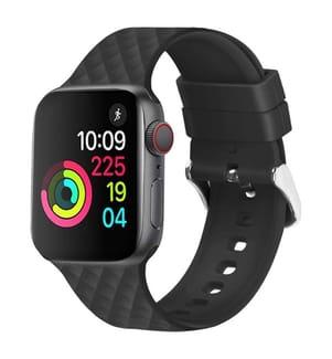 3D-Sportband für Apple Watch 42/44 mm - Schwarz