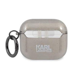 Karl Lagerfeld Glitter Schutz für Airpods 3 - Schwarz