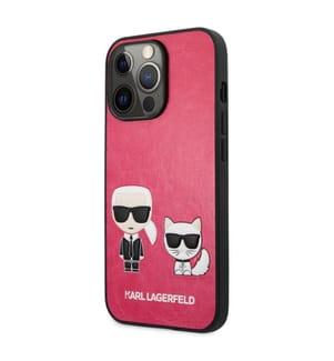 Karl Lagerfeld PU Tasche Karl & Choupette für iPhone 13 Pro - Pink