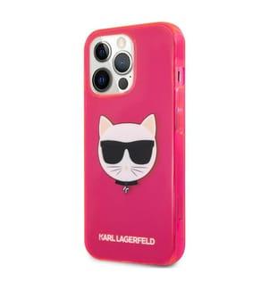 Karl Lagerfeld Klarsichthülle Choupette für iPhone 13 Pro - Fuchsia