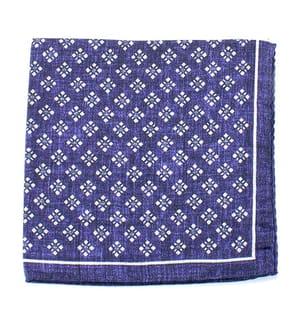 ORTIZ & REED - Taschentuch - Blau und Weiss