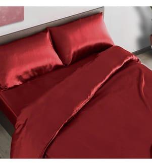COLIBRI - 4-Teilige Bettwäschegarnitur 260 x 220 cm - Rot
