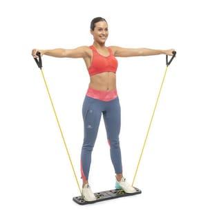 Trainingssystem mit Stretchbändern und Übungsleitfaden Pulsher InnovaGoods