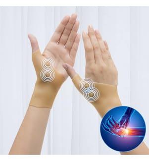 Handgelenksbandage Magnetic Compression - Beige