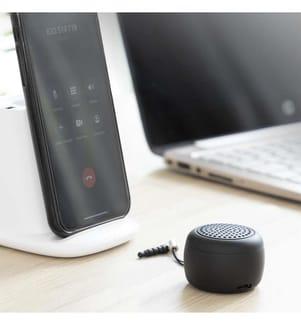 Wiederaufladbarer tragbarer drahtloser Mini-Lautsprecher Miund InnovaGoods Gadget Tech - Schwarz