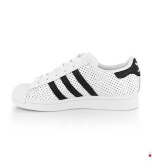 Leder-Sneakers Superstar - Weiss und Schwarz